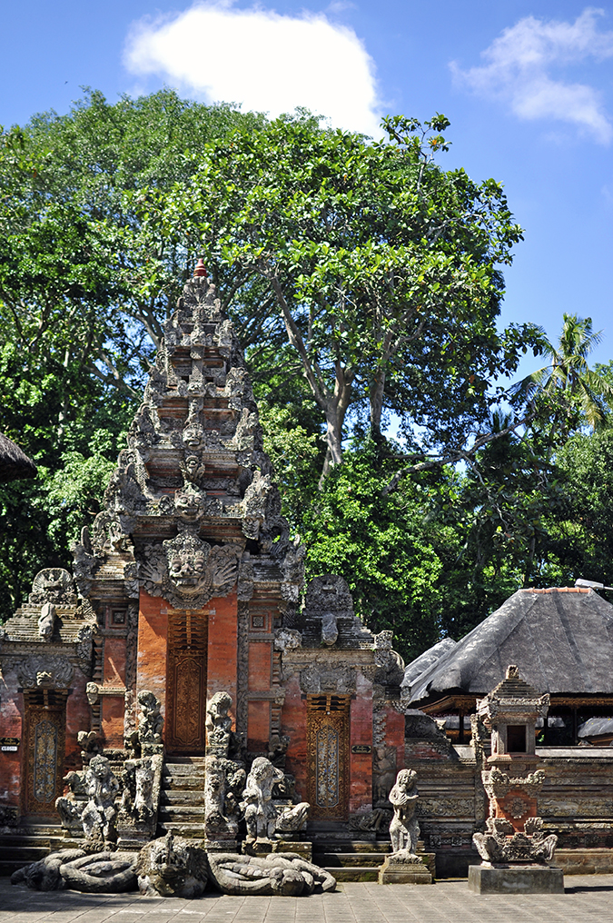 Sacred Monkey Forest Sanctuary - Ubud | Akanksha Redhu | temple front long