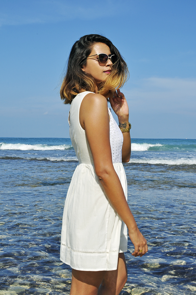 Nikkos Beach | Bali | Akanksha Redhu | half side hair fly