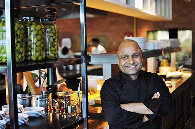 JW Marriott |Chef Vivek Bhatt | Akanksha Redhu | chef half front wide arms cross smile