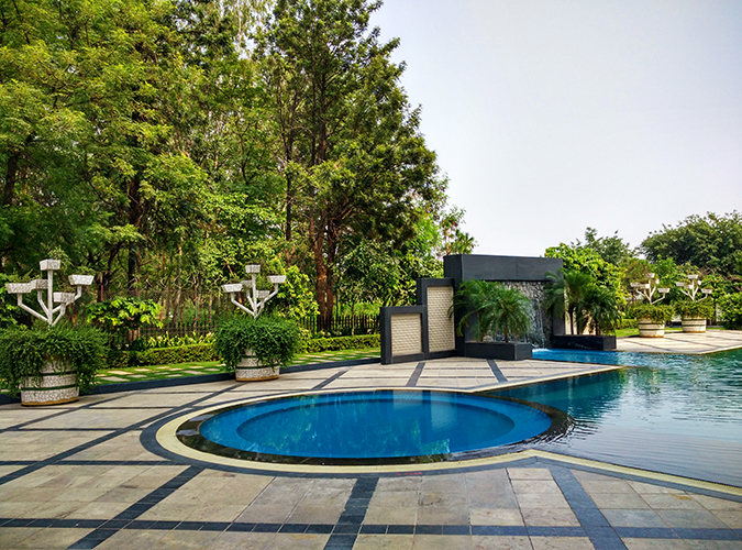 The Lalit Chandigarh | Akanksha Redhu | pool wide phone