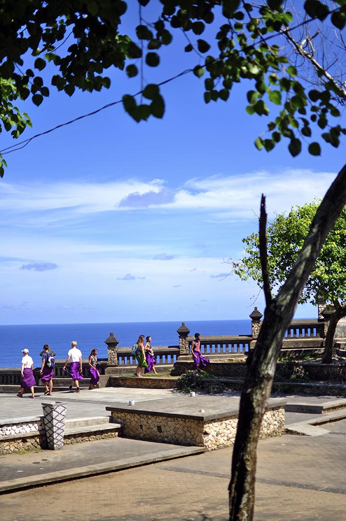 Uluwatu Temple | Bali | Akanksha Redhu | tourists in purple long