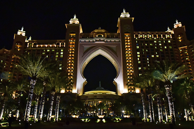 Emirates Holidays | Dubai | Akanksha Redhu | atlantis night view exterior