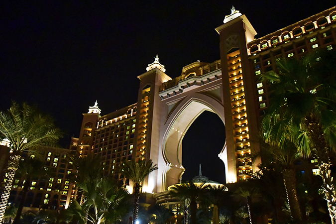 Atlantis The Palm | Dubai | Emirates Holidays | Akanksha Redhu | night view fom side