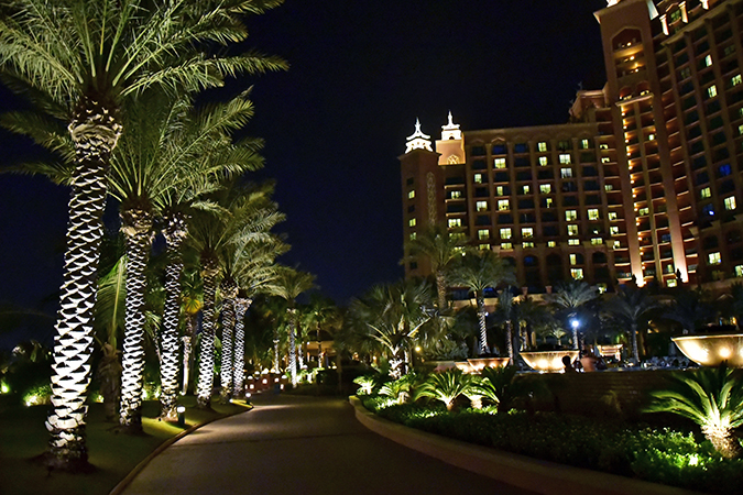 Atlantis The Palm | Dubai | Emirates Holidays | Akanksha Redhu | night view pathway