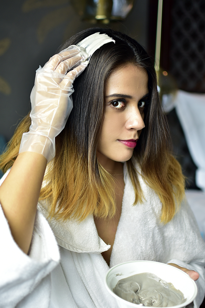 BBLUNT Salon Secret Hair Colour   Akanksha Redhu   starting application face