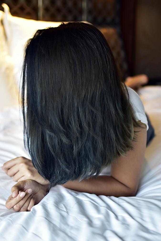 BBLUNT Salon Secret Hair Colour   Akanksha Redhu   after hair no face