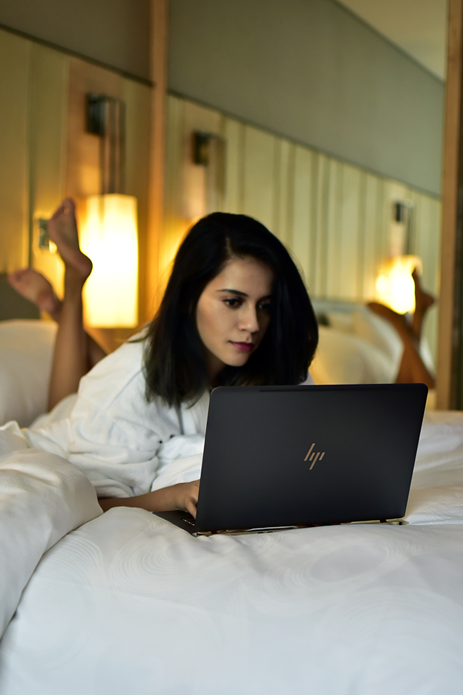 Reinvent Obsession | HP | Akanksha Redhu | in bed laptop