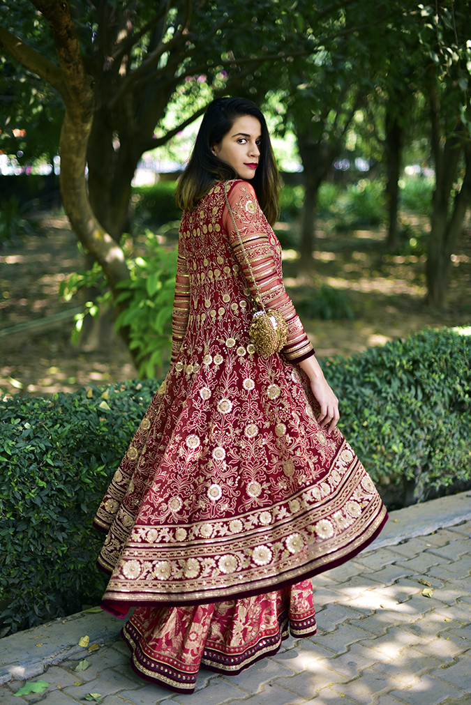 Tarun Tahiliani | Akanksha Redhu | full side medium flare