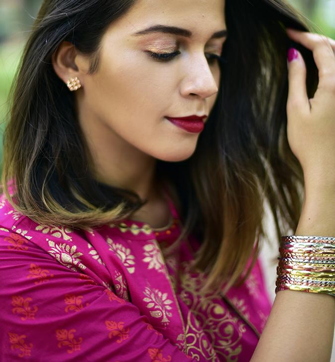 Max Fashion Festive Collection | Akanksha Redhu | face looking down bangles hand in hair