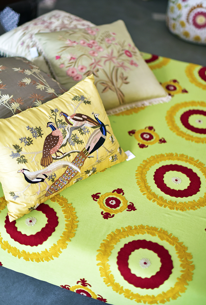 Serendipity Delhi | Akanksha Redhu | delicate embroidered cushions