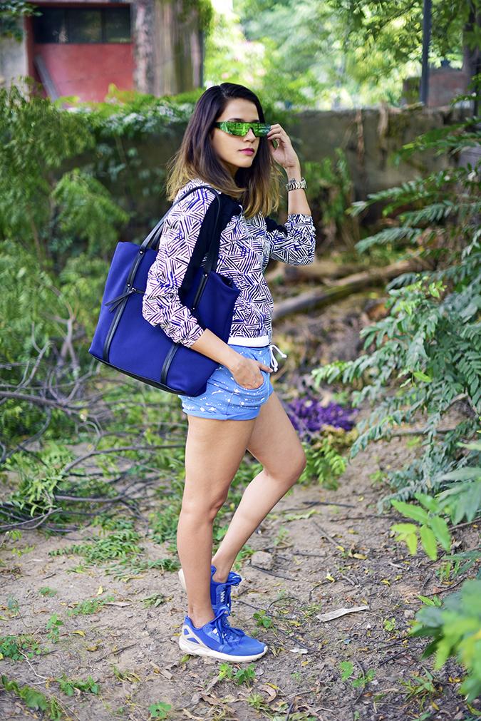 United Colors of Benetton   Akanksha Redhu   full side jacket bag on shoulder