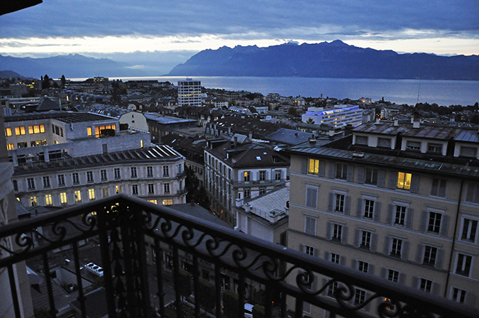 #GlionLuxury | Akanksha Redhu | lausanne hotel evening room view 15