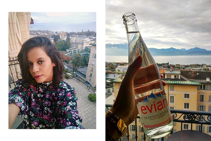 #GlionLuxury | Akanksha Redhu | lausanne balcony selfie evian 19