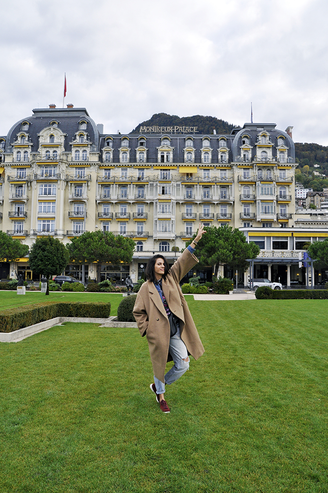 #GlionLuxury | Akanksha Redhu | full front in front of montreux palace 25