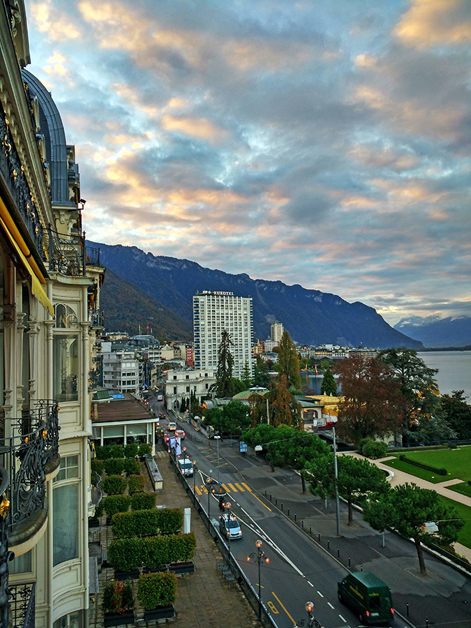 #GlionLuxury | Akanksha Redhu | montreux palace early morning view long 35