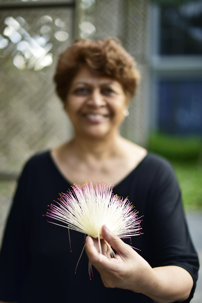 Baan Mai Khao | Phuket | Akanksha Redhu | mom with flower