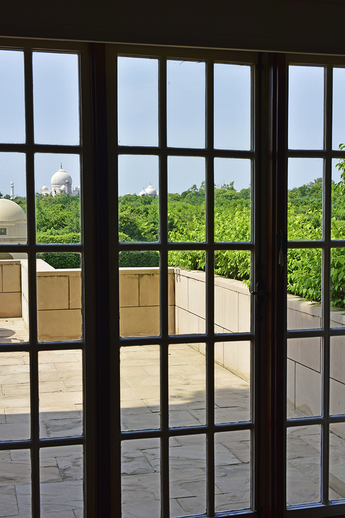 Salvatore Ferragamo | Akanksha Redhu | view of taj through door frame