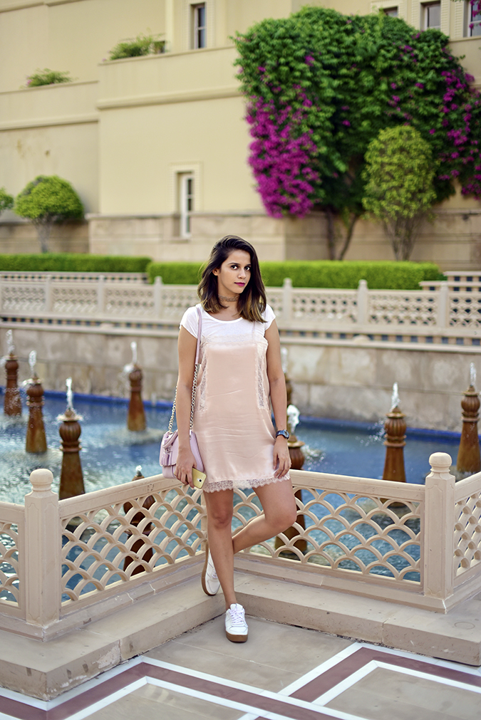 Salvatore Ferragamo | Akanksha Redhu | pond full front leg bent