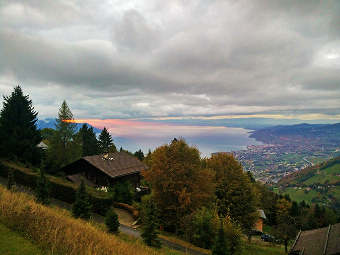 #GlionLuxury | Akanksha Redhu | swiss sunset