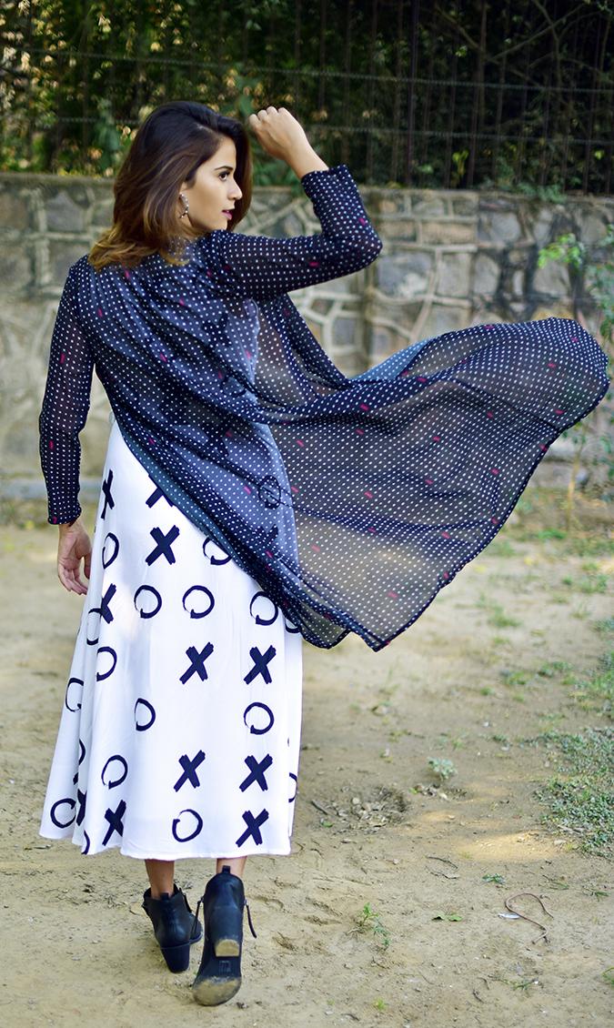 FabAlley x Masaba | Akanksha Redhu | full back cape fly