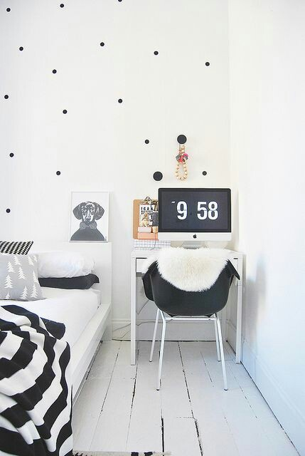 Home Inspo | Akanksha Redhu | polka dot wallpaper