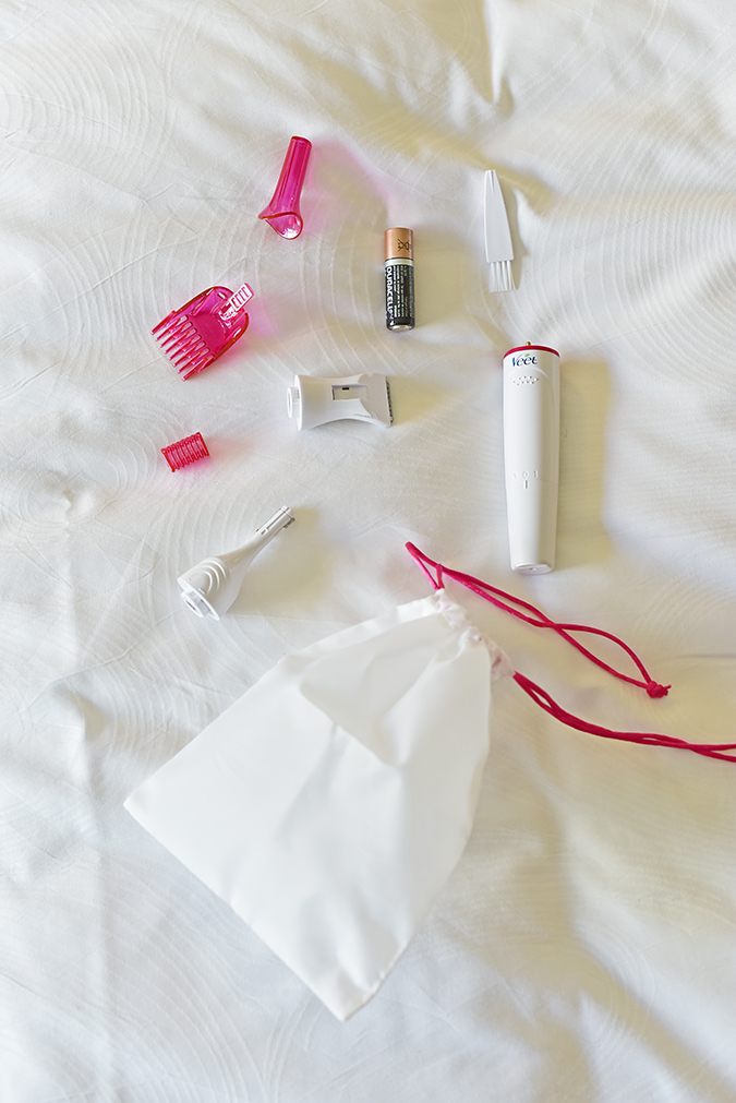 Veet Sensitive Touch Beauty Trimmer | Akanksha Redhu | all contents flatlay