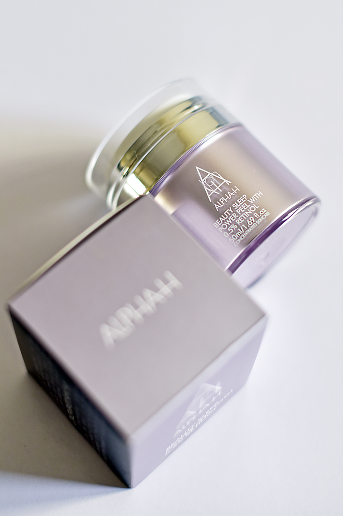 Alpha-H Beauty Sleep Power Peel   Akanksha Redhu   front bottle lying carton long