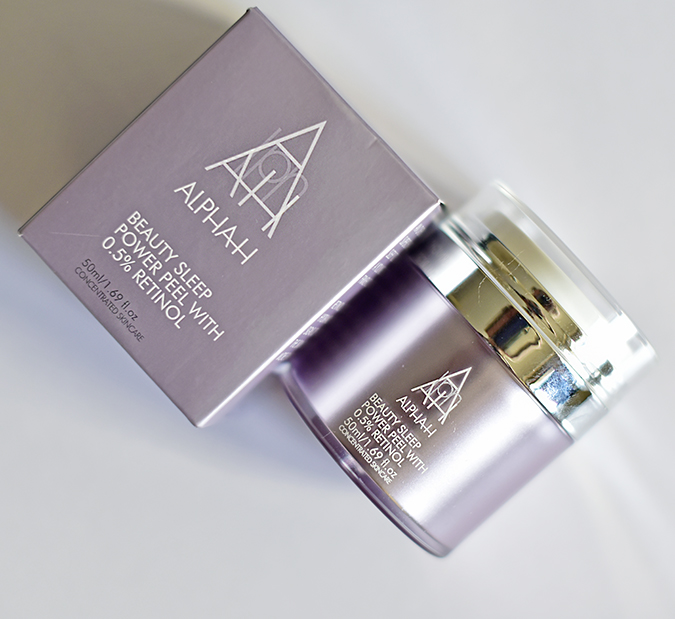 Alpha-H Beauty Sleep Power Peel   Akanksha Redhu   front bottle carton lying