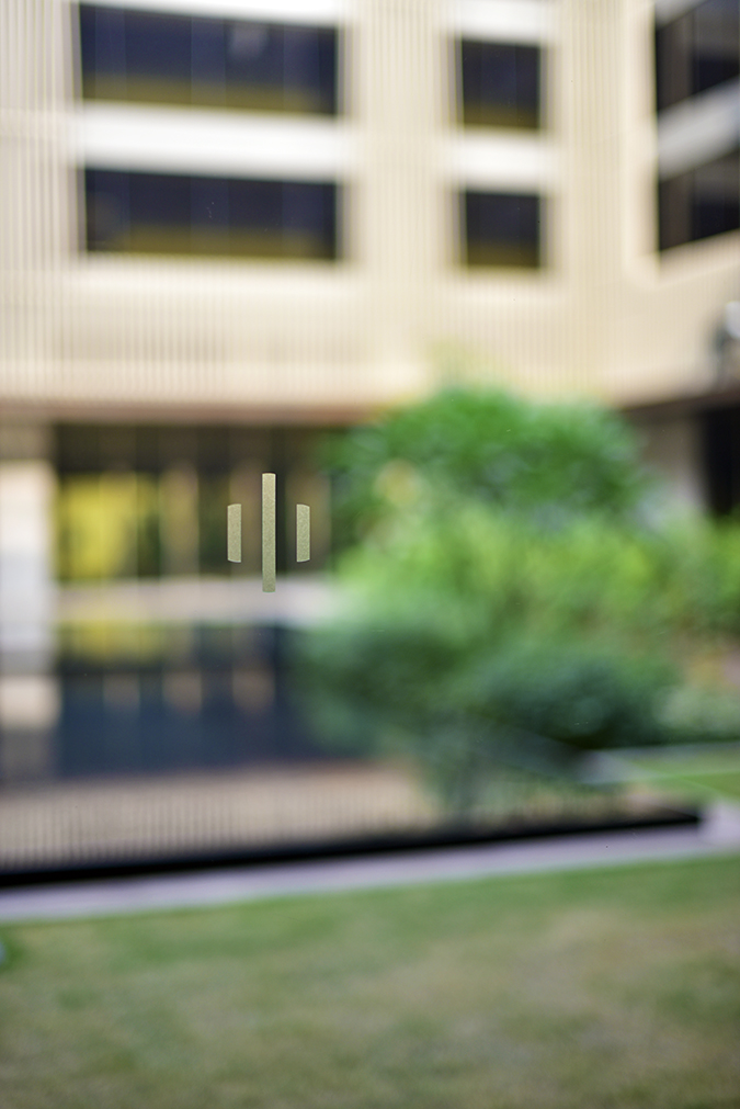 Roseate House | Akanksha Redhu | logo on glass