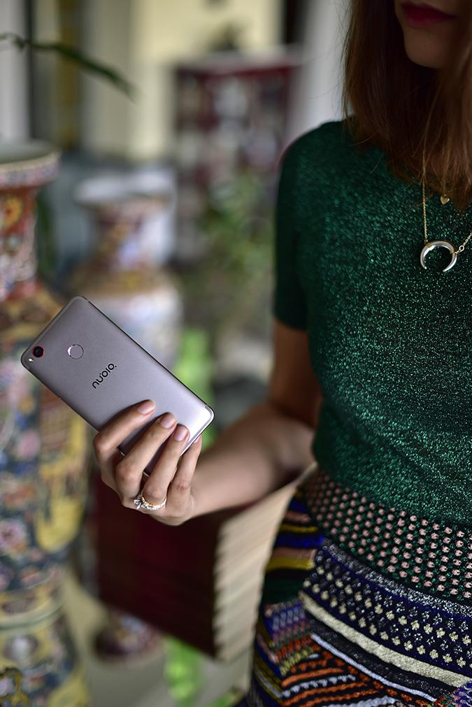 Nubia Z11 miniS   Akanksha Redhu   phone in hand half dress