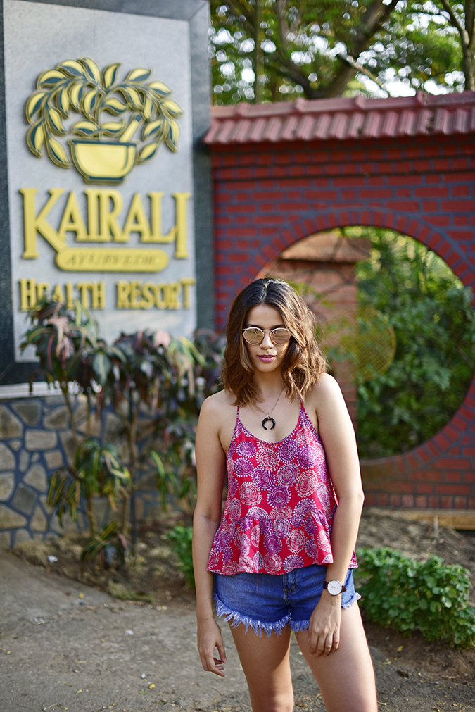 Kairali Ayurvedic Healing Village | Akanksha Redhu | half front branding blurred