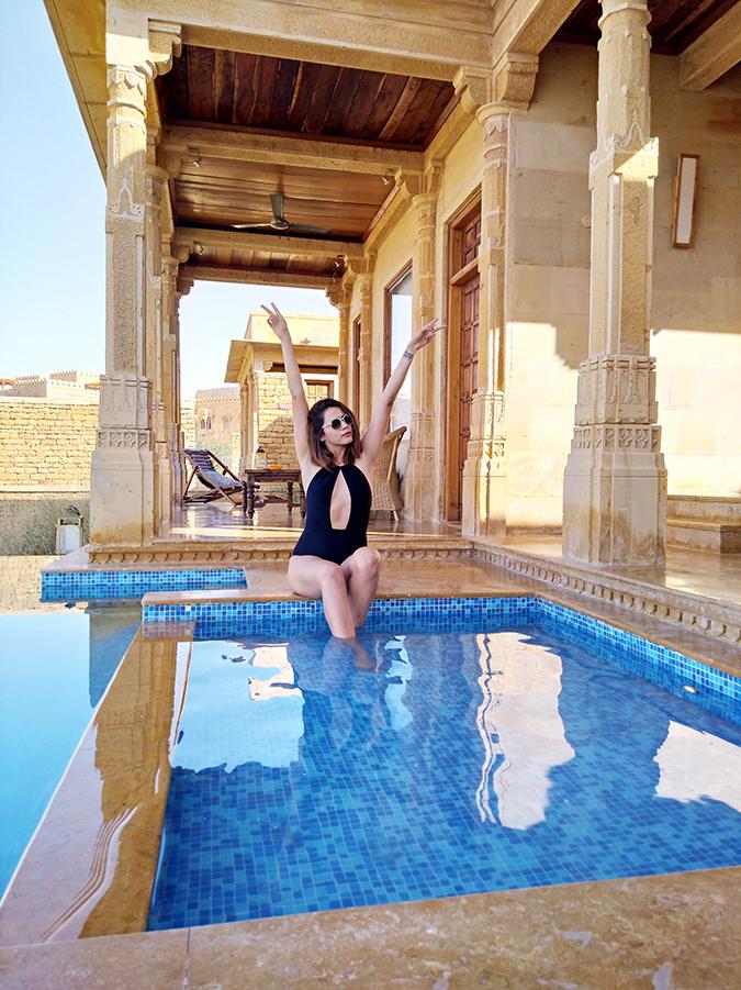 Nubia Z11 miniS   Akanksha Redhu   sitting in pool
