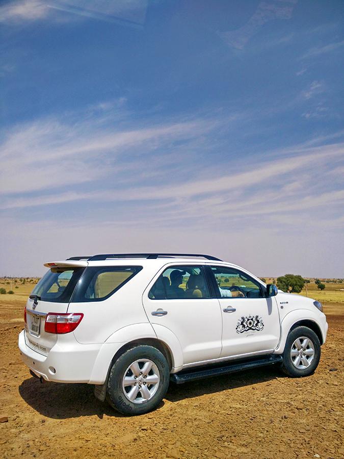 Suryagarh Jaisalmer | Akanksha Redhu | car