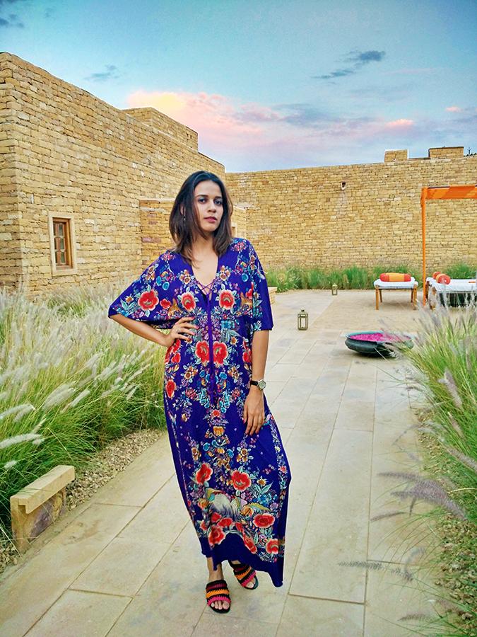 Suryagarh Jaisalmer | Akanksha Redhu | cavalli dress pink sky