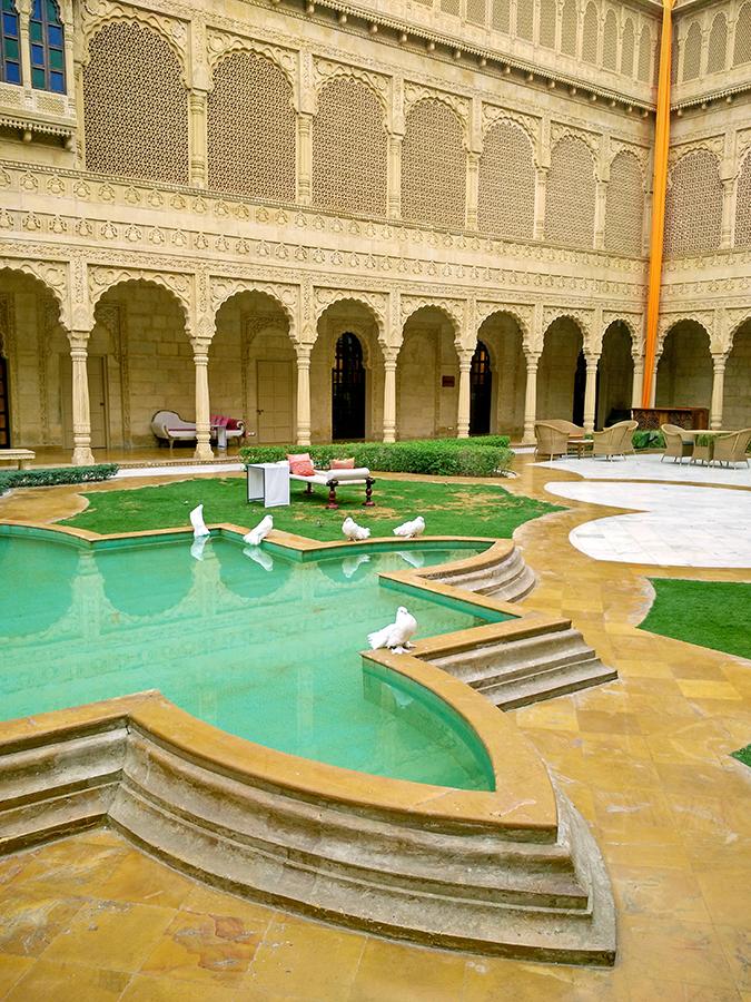 Suryagarh Jaisalmer | Akanksha Redhu | courtyard pigeons