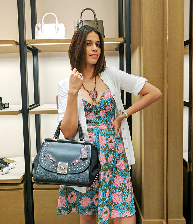 Coach India | Akanksha Redhu | half front with coach bag