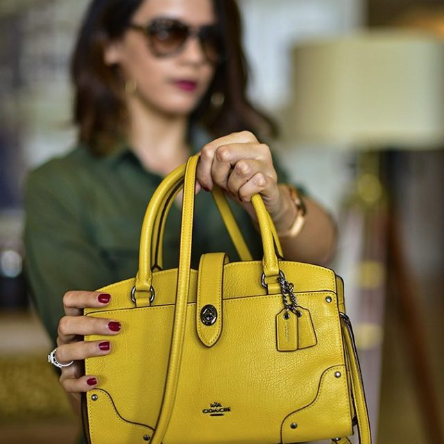 Currently loving this delicious mustard leather coach bag Also lovinghellip
