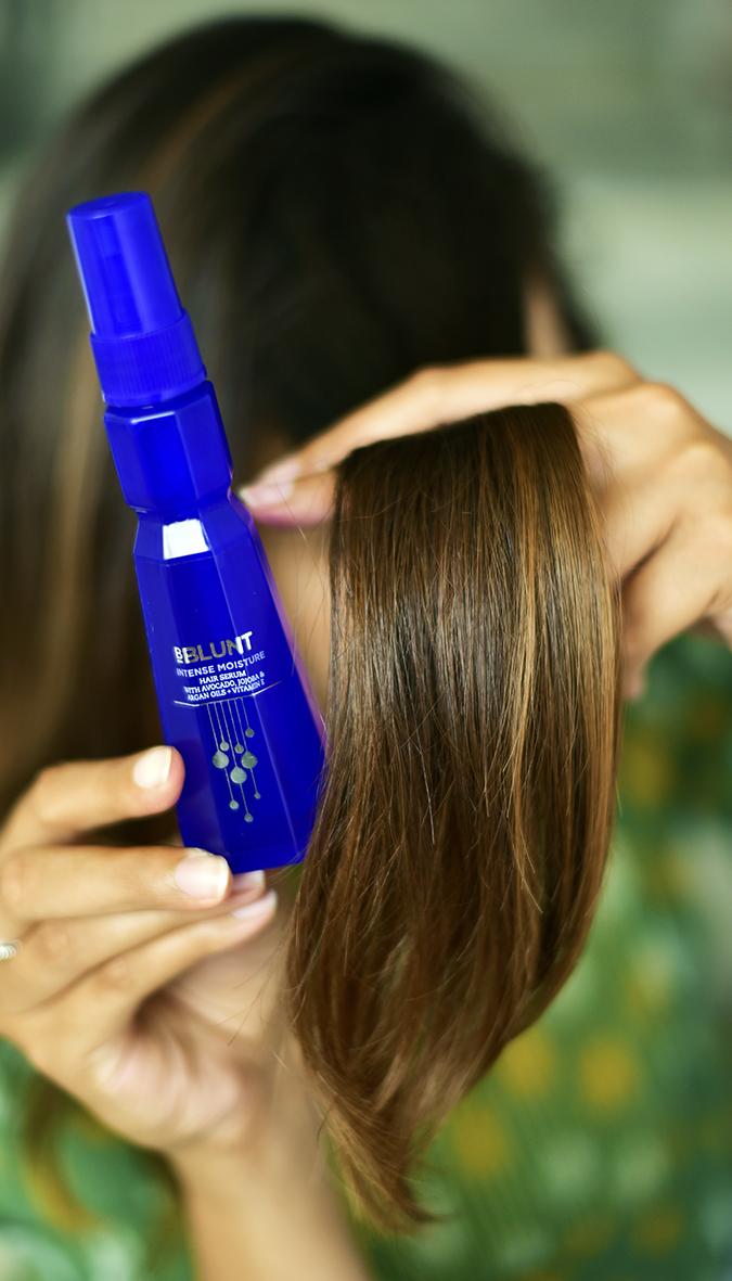 Intense Moisture Hair Serum   BBLUNT   Akanksha Redhu   section of hair