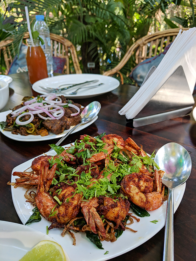 Places to Eat | Goa | Akanksha Redhu | gunpowder prawns