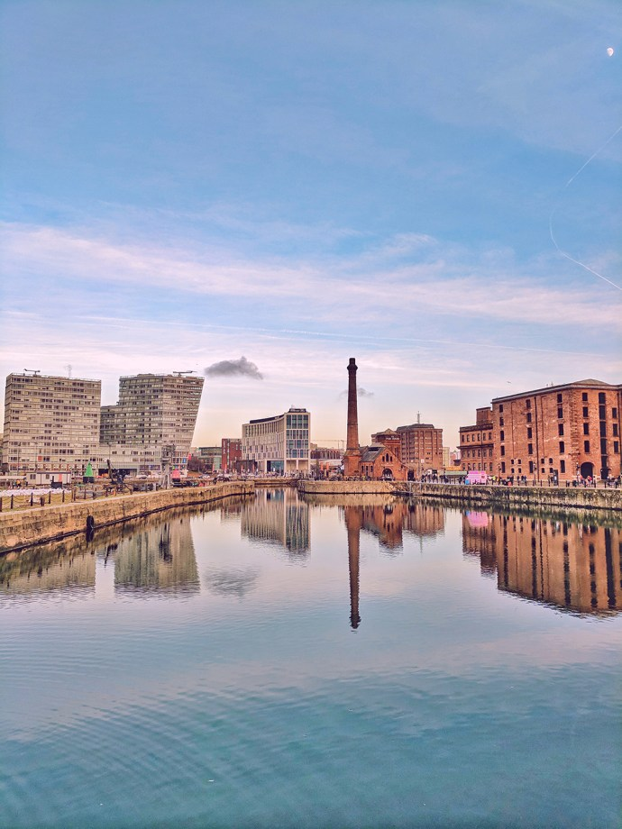 Must See Liverpool | Akanksha Redhu | Visit Britain | albert dock waterview with chimney