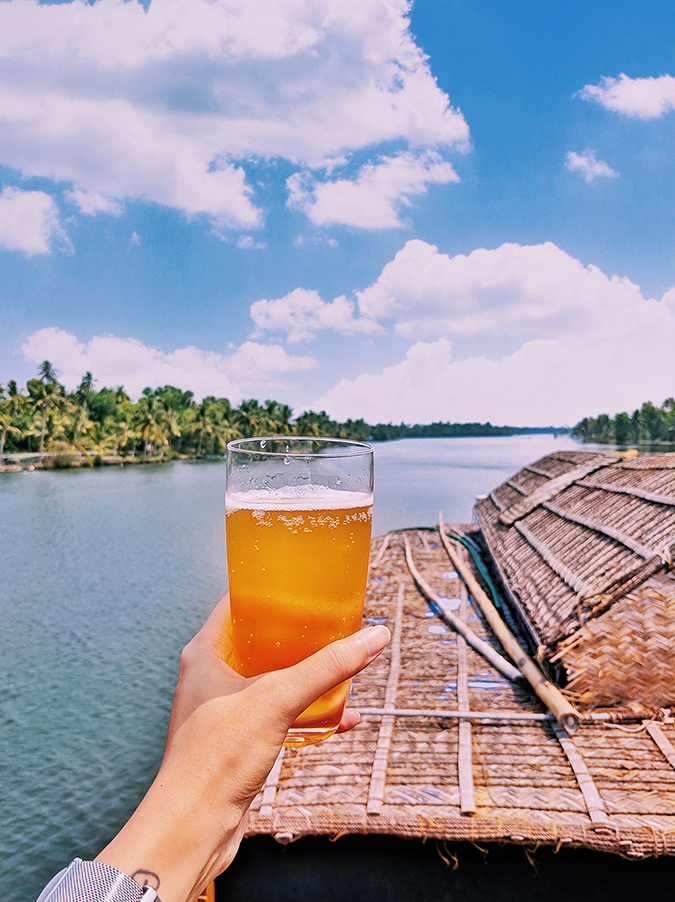 Kerala Backwaters | Vayalar | beer glass