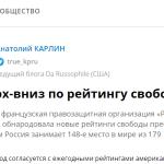 Статья для «Комсомолки»: Вверх-вниз по Рейтингу Свободы