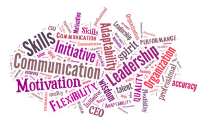 Business Skills word cloud