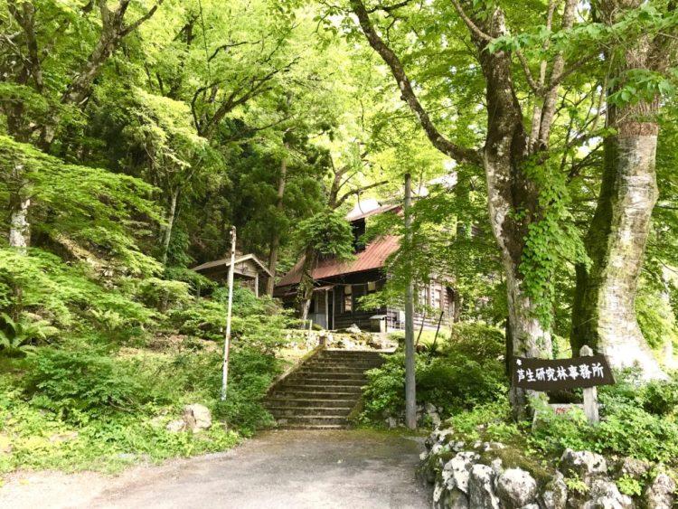 芦生研究林事務所。