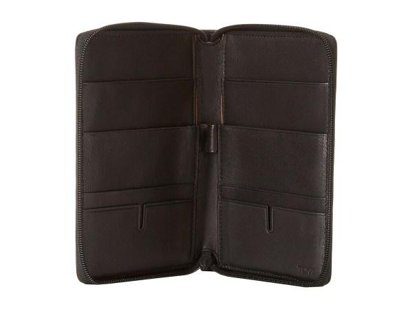 Tumi Chambers Zip - Multiple Passport Wallet Black