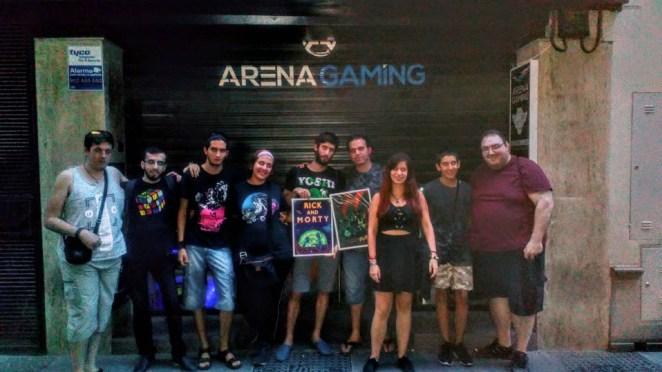 foto grupal 5º noche gaming