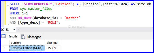 How to bypass the SQL Server Express database size limit   AKAWN