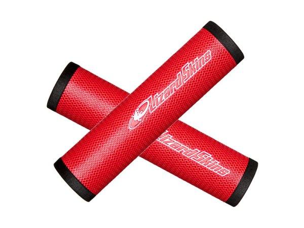 Chwyty kierownicy LIZARDSKINS DSP 130mm czerwone /Red/