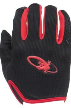 Rękawiczki LIZARDSKINS MONITOR długi palec czerwone (Jet Black/Crimson)