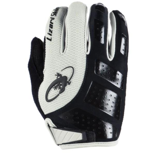 Rękawiczki LIZARDSKINS MONITOR SL długi palec białe (Gray/Jet Black)